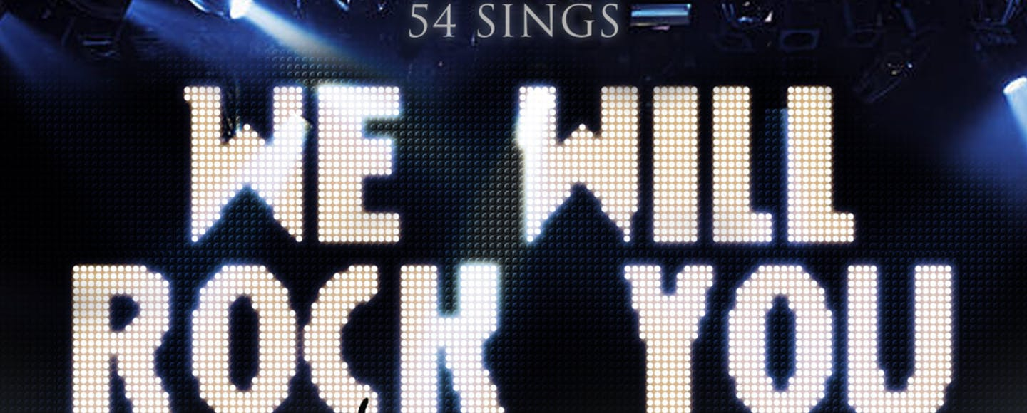 54 Sings We Will Rock You with Jonah Platt, Alice Ripley, and more!
