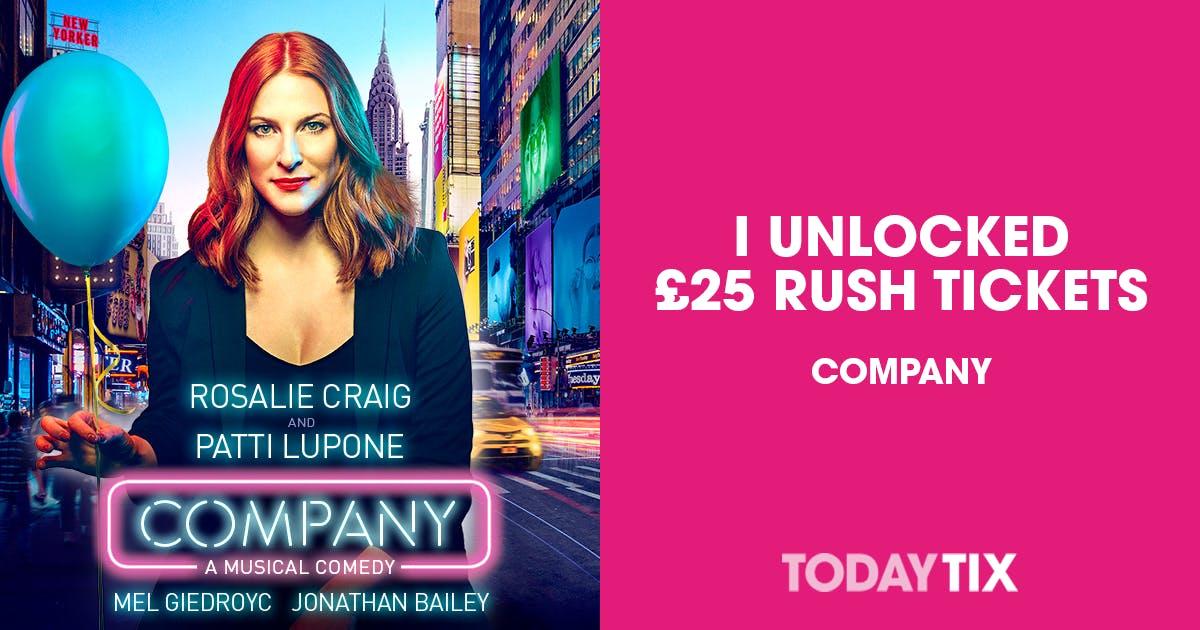 todaytix.com - Company Rush Tickets   London