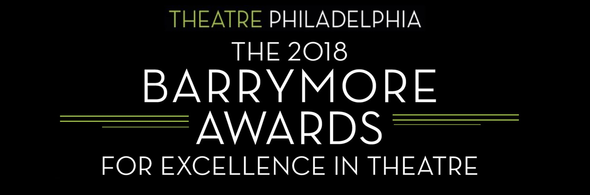The 2018 Barrymore Awards Logo