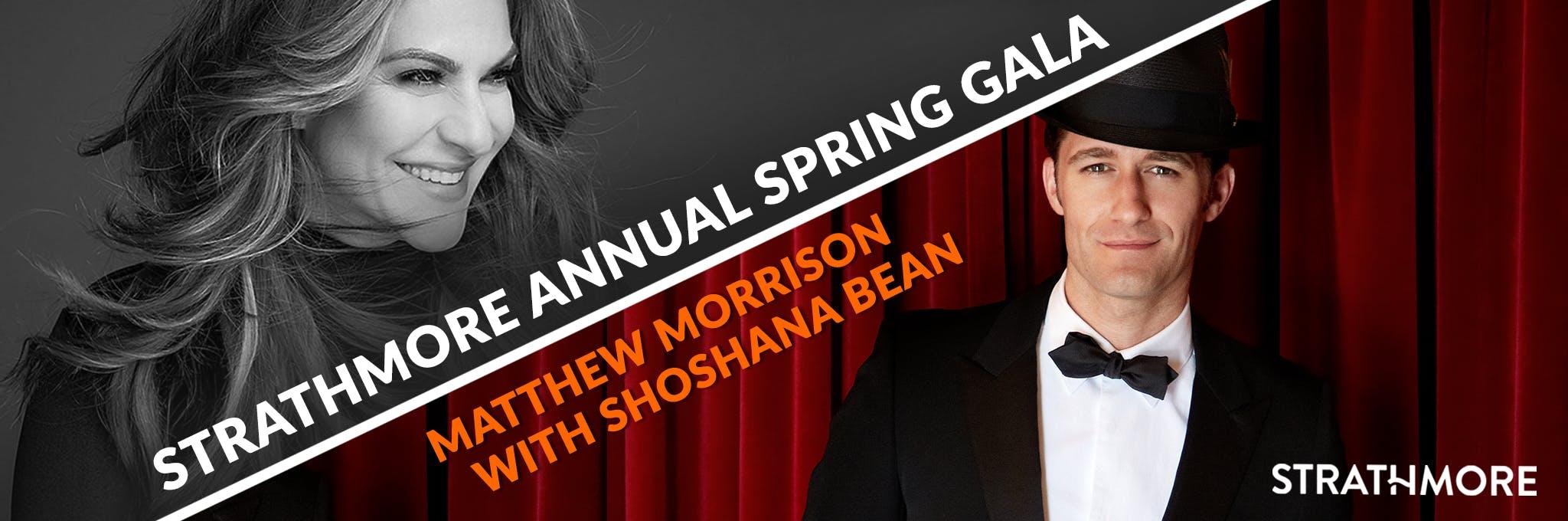 Matthew Morrison with Shoshana Bean: Strathmore Annual Spring Gala Logo