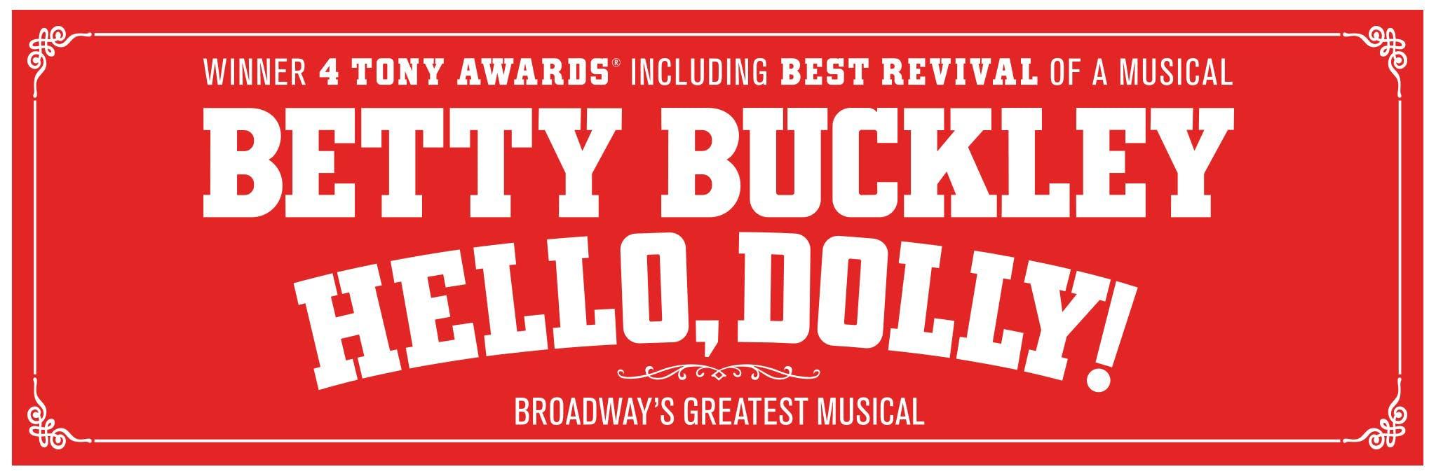 Betty Buckley in Hello, Dolly! Logo