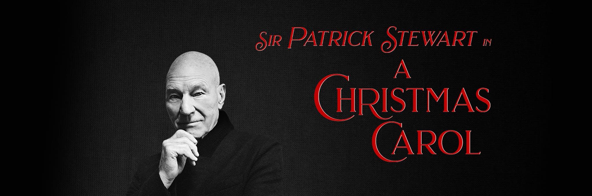 Sir Patrick Stewart in A Christmas Carol Logo