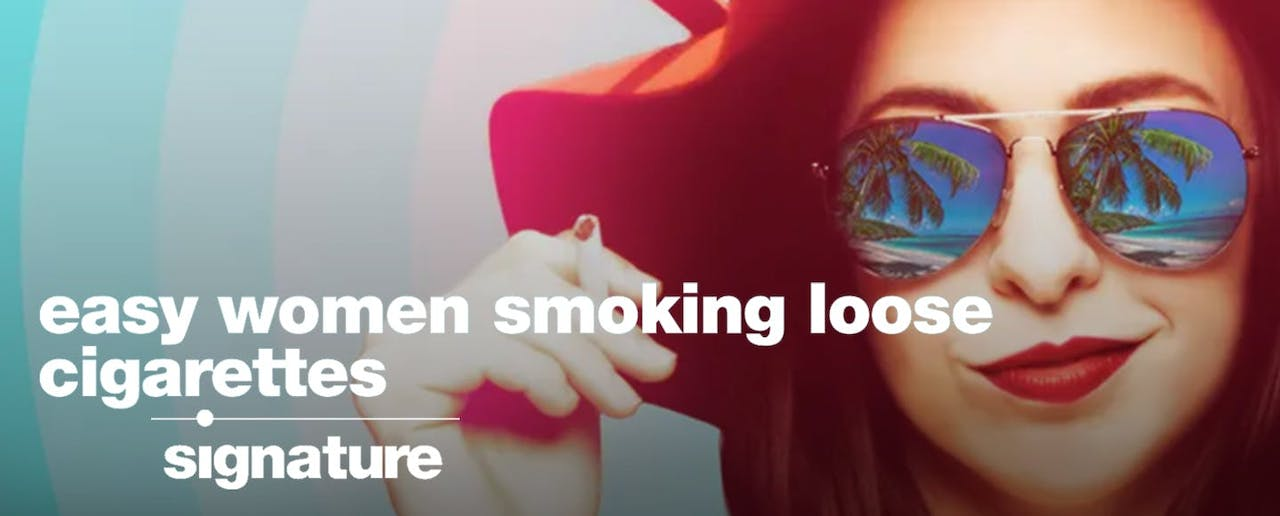 Streamed Performance: Easy Women Smoking Loose Cigarettes